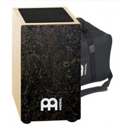 String Cajon, Black Makah Burl m.bag CAJ3BMB-M+BAG