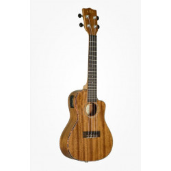 Kala Concert All Solid Mahogany Ukulele UC-Cut  m/pick-up m/etui