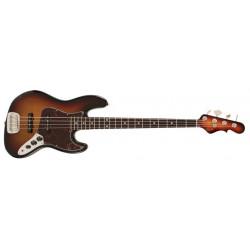 G&L JB 4-STR Bass 3-Tone Sunburst Rustic m/etui