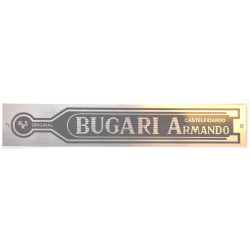 Logo Bugari metalskilt